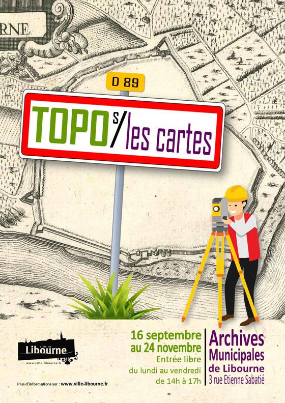 Exposition Topo s/les cartes jusqu'au 24 novembre